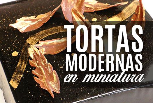 TORTAS MODERNAS EN MINIATURA