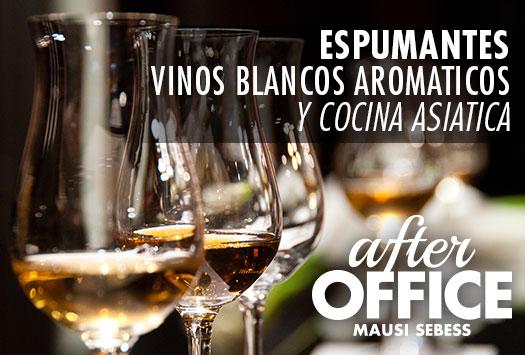 After Office – Espumantes, Vinos blancos y Cocina asiática