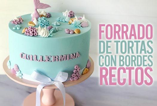 FORRADO DE TORTAS CON BORDES RECTOS
