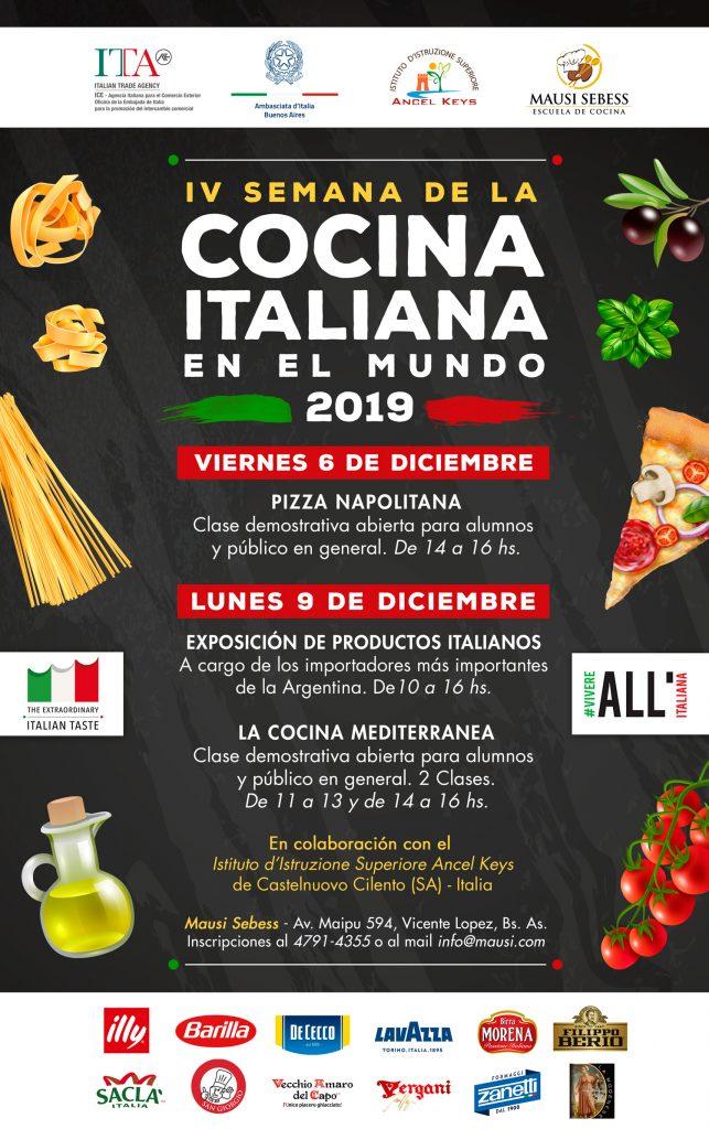 IV semana de la Cocina Italiana en el mundo 2019