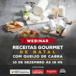 Webinar receitas Gourmet de Natal com queijo de cabra