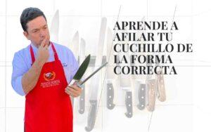 Aprende a afilar tu cuchillo de forma correcta.