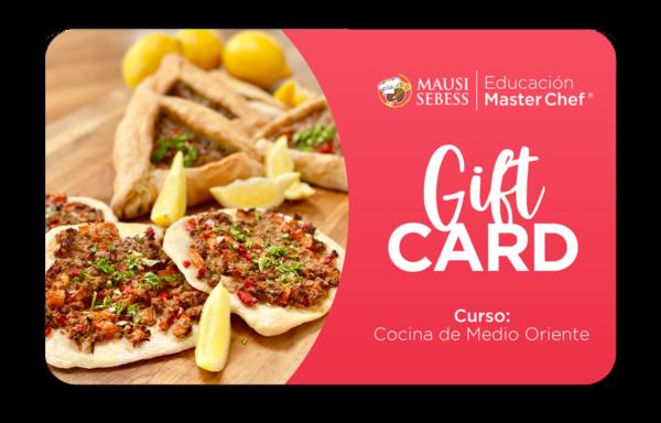 Gift Card Cocina de Medio Oriente